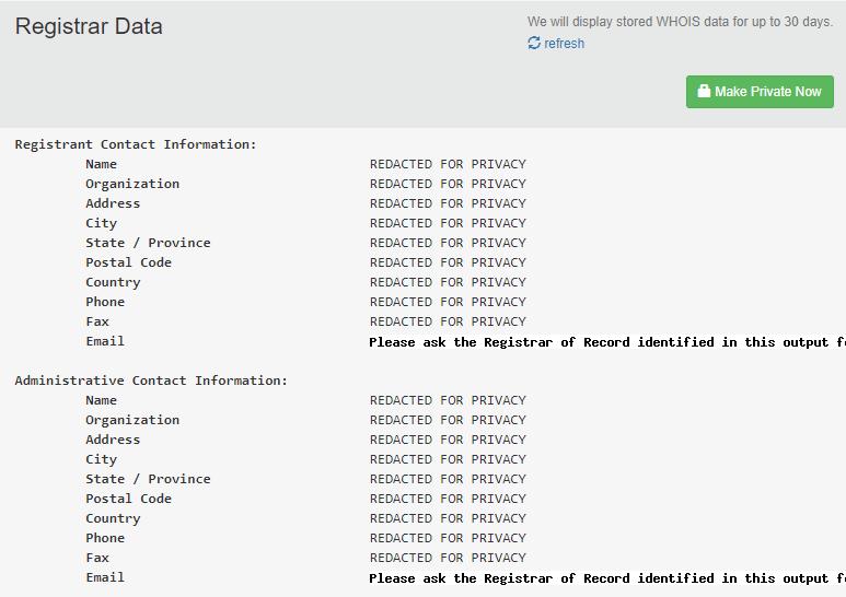 Registrar Data