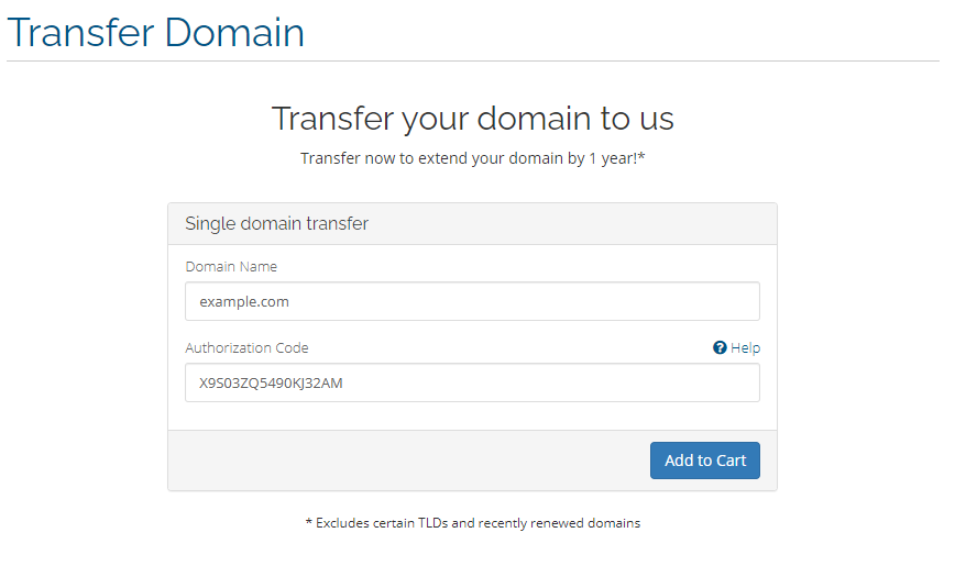 Transfer Your Domain To Us
